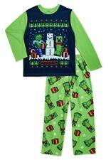 MINECRAFT Christmas Pajamas Boy Size 4-5, 6, 8 10-12 14-16 Small Medium Large XL