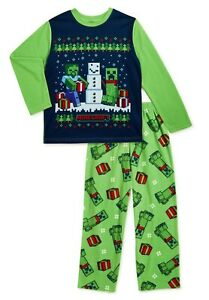 MINECRAFT Winter Pajamas Boys Size 4-5 6-7 8 10-12 14-16 Creeper Girls NEW NWT