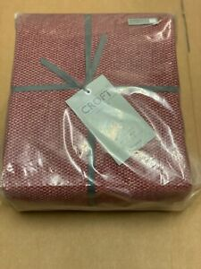 JOHN LEWIS CROFT COLLECTION  DUVET COVER KINGSIZE - RED COTTON 200 THREAD COUNT