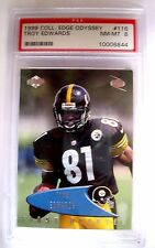 Troy Edwards RC 1999 Collector's Edge Odyssey #116 NM-MT Graded PSA8!Steelers RC