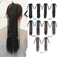 45cm Synthetic Twist Micro Braids Ponytail Straight Braid Pigtail Hair Extension