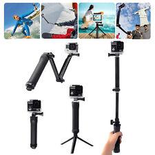 Für GoPro Hand Griff Arm 3-wege Selfie Stick Stativhalterung Einbeinstativ DHL