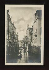 Italy VENEZIA Venice Canal San Marina II c1920/30s? RP PPC