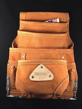 10 pocket LEATHER carpenter electrician nail & tool bag waist belt tool pouch