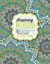 INSPIRING WORDS 30 VERSES FROM THE BIBLE YOU CAN COLOR Zondervan BRAND NEW BOOK