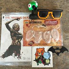 Lot of Misc LOOT CRATE Items Walking Dead Comic, Batman, Megaman, Minecraft
