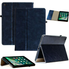PREMIUM Cuir cover pour air d' Apple Ipad 2 étui Tablet de poche bleu