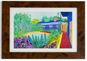 Garden Framed Print by David Hockney