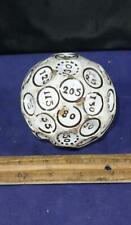 UNUSUAL & RARE 17th or 18th Century Teetotum Large Gambling Ball Pearlware Dice