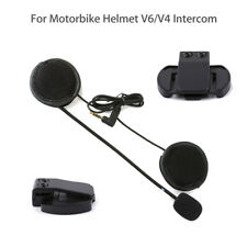 Headphone Earphone+Clip Mount For EJEAS Motorcycle Helmet V6 Intercom Microphone