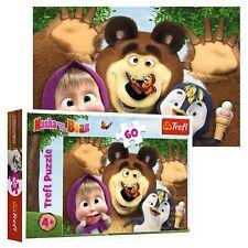 Trefl 60 Piece Kids Large Animaccord Masha And The Bear Happy Day Jigsaw Puzzle