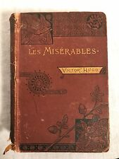 Les Miserables Victor Hugo Antique Hardcover Book w illustrations VTG Routledge