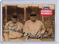 Babe Ruth Lou Gehrig Dubble Bubble Advertising Baseball Card