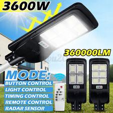 3600W Solar Street Road Light Motion Sensor+RemoteControl Outdoor Yard   K