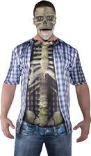 Morris Costumes Men's Skeleton Realistic Photo-Real T-Shirt One Size. UR29604
