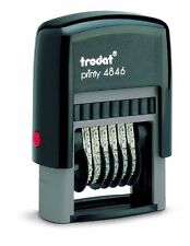 Trodat Printy 4846 Self-Inking 6 Band Number Stamp, Black Ink