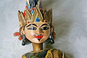 "Indonesian Wayang Golek Rod Puppet Kresna (Krishna) 24 "" Tall (30"" with rods)"