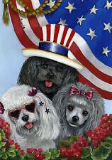 "Precious Pet Garden Flag - Poodle USA Flag 12"" x 18"" ~ Charity!"