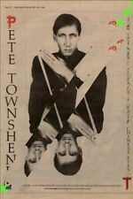 Pete Townshend The Who Chinese Eyes Advert NME Cutting 1982