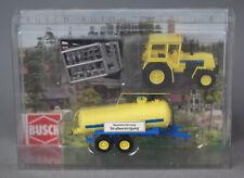 BUSCH 50410 [H0, 1:87] Traktor ZT323 mit Anhänger Straßenreinigung - NEUWARE!