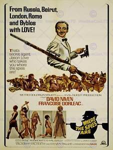 ADVERT MOVIE FILM WHERE SPIES ARE DAVID NIVEN DR LOVE ART PRINT POSTER BB7619