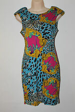 Lipsy BNWT Multicoloured Bodycon Wiggle Pencil Stretch Party Mini Dress Size 12