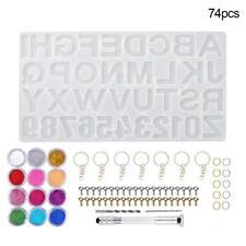 94pcs//Set Epoxy Resin Casting Silicone Mold Kit Jewelry Making Pendant DIY B4J6