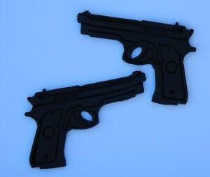 2 edible GUNS MILITARY army HUNTING cupcake cake topper decoration CAMO GLOCK