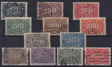 Deutsches Reich: Mer 246-257. - Set di guardare timbrato MW 22,- (a065#1)