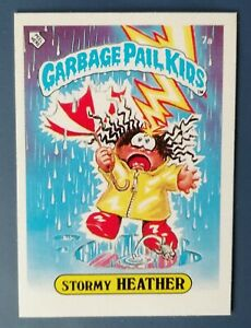 Stormy Heather 7a UK Garbage Pail Kids Series 1(1985)Topps~NMT/MINT~Pack Fresh