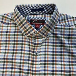 Johnston & Murphy Men's Large Shirt Long Sleeve  Button Up Casual Multicolor