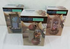 Lot of 3 Wayland Square Water Fountains: Rustic Urn-Leaf Shaped-River Stone Arch