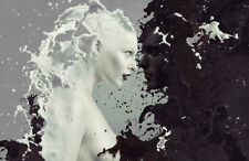 Fotomurale Milk and Coffee n. 309 Dimensioni: 400x280 cm carta da parati donne Bianco Nero