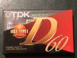 AUDIOCASSETTA TDK D 60 NUOVA SIGILLATA audio tape TDK D 60 new sealed