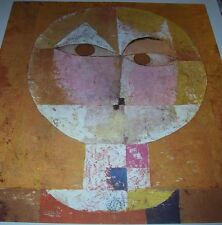 SENECIO HEAD OF A MAN Geometrical Forms Evil in Eyes Good Color PAUL KLEE Print