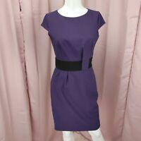 Calvin Klein Women's Purple Sleeveless Career Business Sheath Dress Size 2