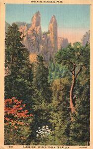 Vintage Postcard 1941 Cathedral Spires Yosemite Valley Yosemite National Park