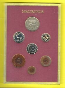 MAURITIUS 7- COIN PROOF SET 1978 BRITISH ROYAL MINT !
