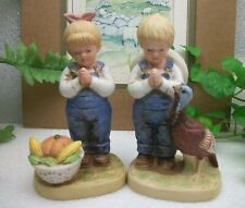 Home Interiors Homco Denim Days A Time For Thanks Danny & Debbie Figurine 1506