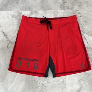 NWT Reebok Swim Red Mesh Lined Swim Trunks Men's Size XXL XXlarge