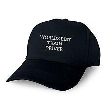 WORLDS BEST TRAIN DRIVER PERSONALISED BASEBALL CAP GIFT DAD GRANDAD