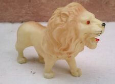 1930's OR 40's??? VINTAGE CELLULOID LION WITH RED RHINESTONE EYES JAPAN