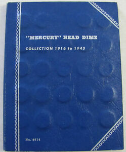 1916 - 1945 Nearly Complete Mercury Dime Set - 76 Silver Coins - Missing 1916d