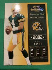 BRETT FAVRE 2002 Playoff Contenders Championship Ticket #96/250 SP Packers HOF