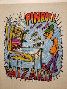 Vtg Iron On Heat T-Shirt Transfer: PINBALL WIZARD Day-glo 1974