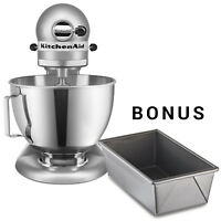 KitchenAid Stand Mixer Ultra Power Tilt-Head  KSM96CU Light Silver + Loaf Pans
