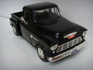 1955 CHEVY PICKUP DIE-CAST MODEL CAR SCALE 1:24 BLACK Toy Vehicle