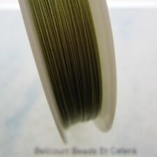 .30mm Tigertail Wire Gold Nylon Coated Steel Beading Excellent Generic Wire