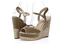 Zigi Soho Caridee Women's brown velvet wedge sandals sz. 8