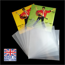 """10 7"""" Polythene Record Sleeves - 450g Gauge Plastic Vinyl Cover - FREE DELIVERY"""